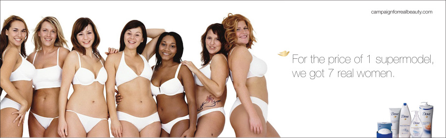 DoveOOH1_900 female tech execs pose without clothes in underwear ad campaign,Womens Underwear Advertising